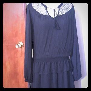 Anthropologie Heartloom boho style dress black XS